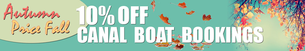 Autumn Fall 10% Off Booking Canal Holidays