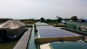 solar panel narrowboat